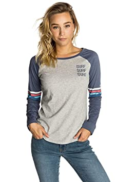 RIP CURL Surf Racer Long Sleeve tee Camiseta, Mujer, Cement Marle, XS