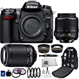 Nikon D7000 16.2MP CMOS Digital SLR Camera Bundle with Lens, Bag and Accessories (15 Items)