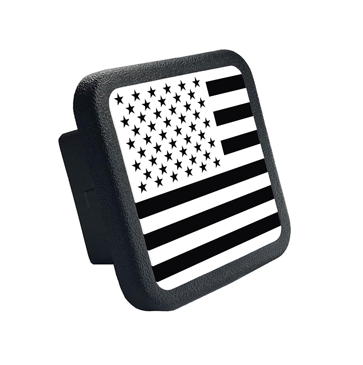 Fits 2 Receivers USA US American Flag Trailer Hitch Cover tube Plug Insert