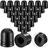 50 Pieces Brake Bleeder Rubber Caps Brake Bleeder Screw Caps Grease Fitting Caps Rubber Dust Stem Covers Black Valve…