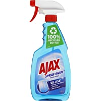 Ajax Spray n' Wipe Triple Action Glass Cleaner Anti Streak Anti Fog Anti Scratch Ammonia Free Trigger Spray Made in…