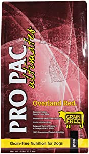 Pro Pac Ultimates Overland Red Grain Free Dry Dog Food, 5 Lb.