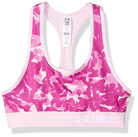 9b495e1176768 Under Armour Girls  HeatGear Armour Printed Sports Bra  Amazon.in ...