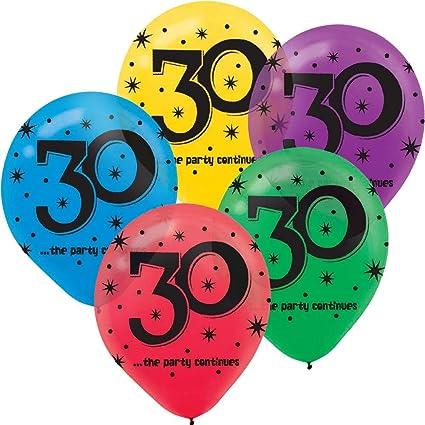 Amazon 30th Birthday Party Balloons