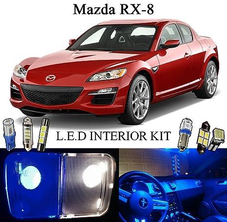 2013 Mazda RX-8 profundo azul LED Interior luces de paquete + mueble (8