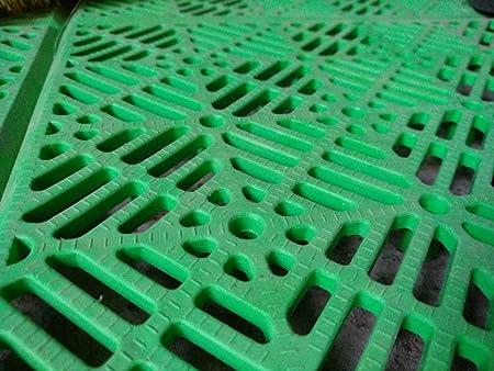 ANTIHUMEDADES Suelo Polipropileno en Losetas de Plástico (Verde): Amazon.es: Jardín