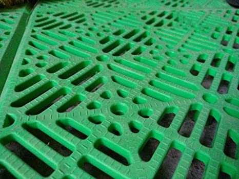 ANTIHUMEDADES Suelo Polipropileno en Losetas de Plástico (Verde)