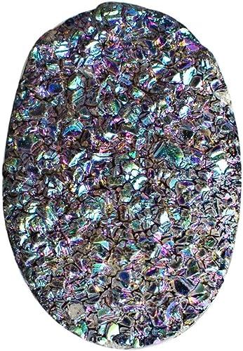 Titanium Druzy Gemstone Cabochon