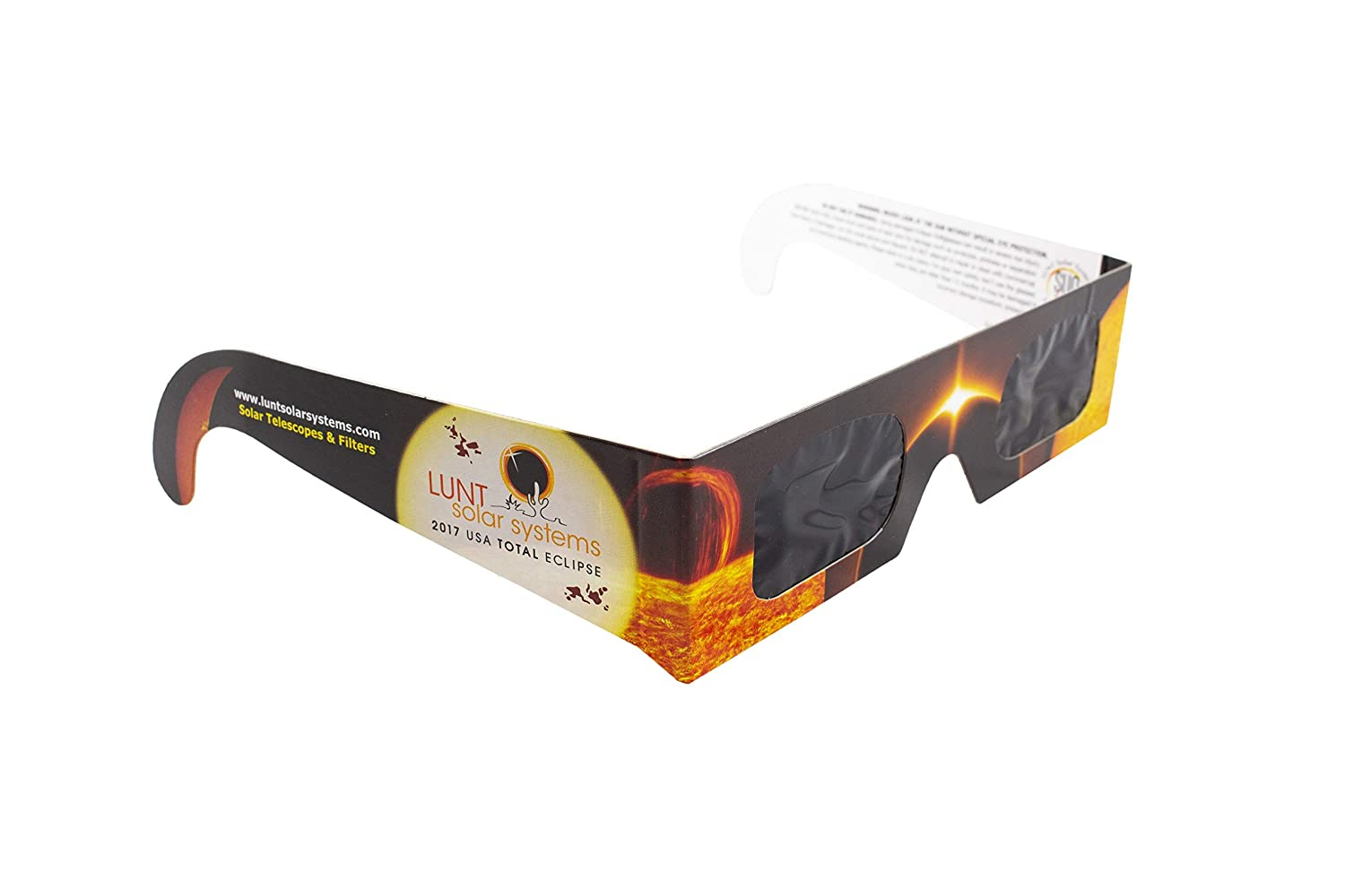 5-Pack Premium ISO and CE Certified Lunt Solar Eclipse Glasses