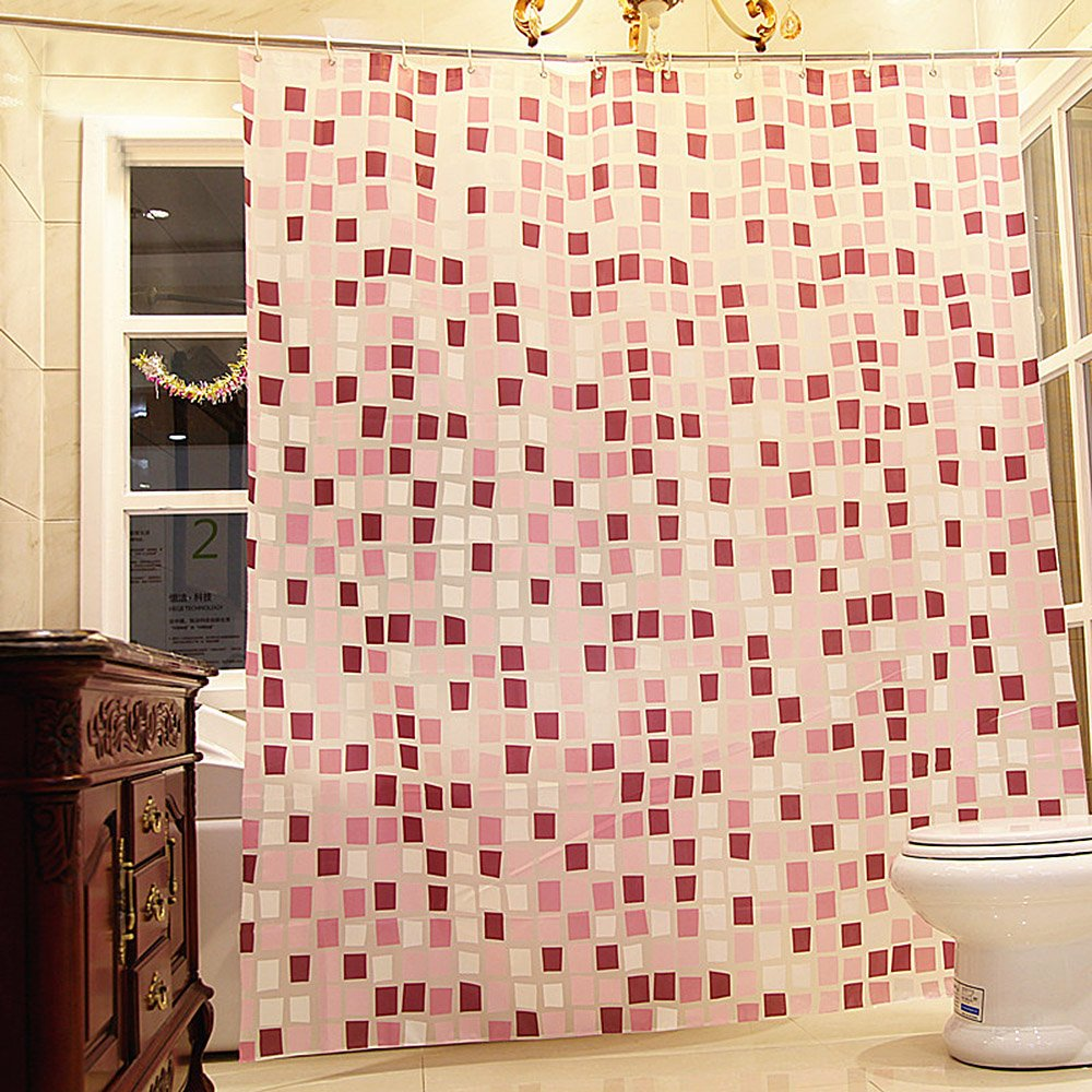 Riverbyland Shower Curtains Pink Square 72 x 72