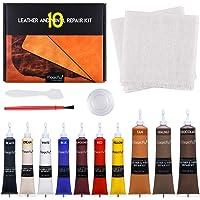 Magicfly Vinyl en Leer Reparatie Kit 10 Kleuren voor Meubels, Bank, Jas, Bootstoel, Leren Reparatieset voor Banken…
