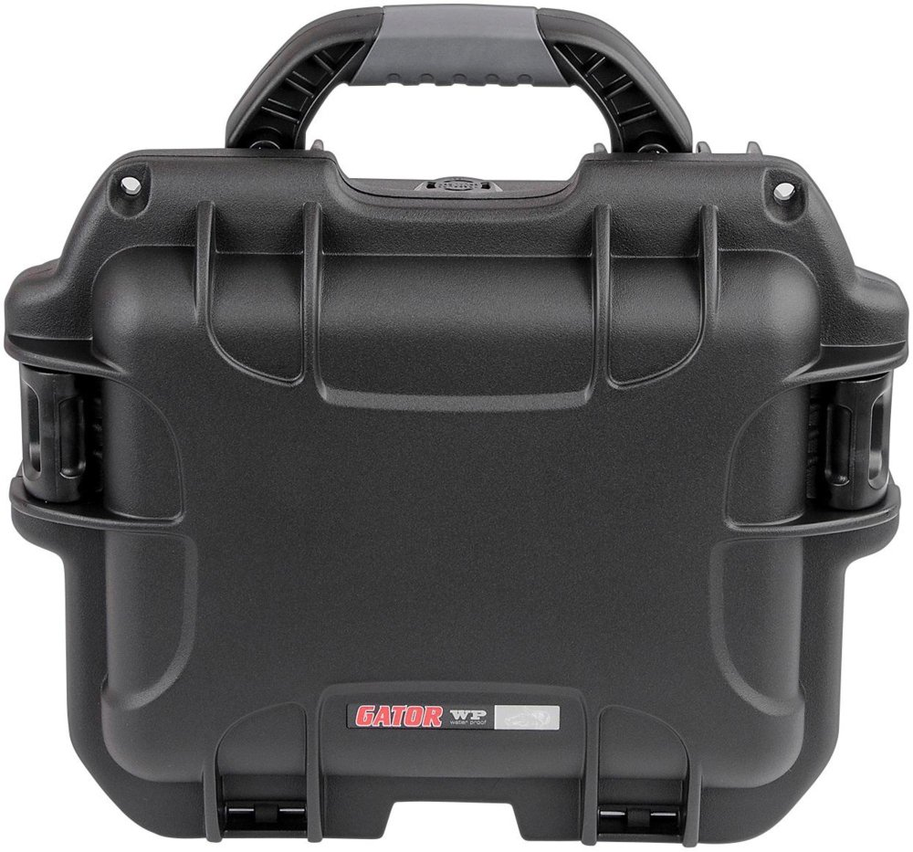 Gator Cases Titan Series Water Proof Injection Molded Microphone Case; Fits up to 6 Wired Mics (GM-06-MIC-WP)