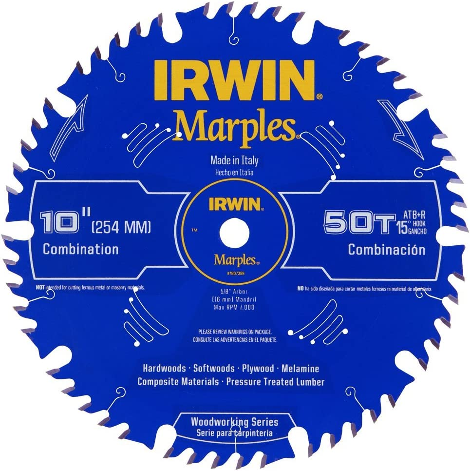 9. Irwin 1807368 Table Saw Blade