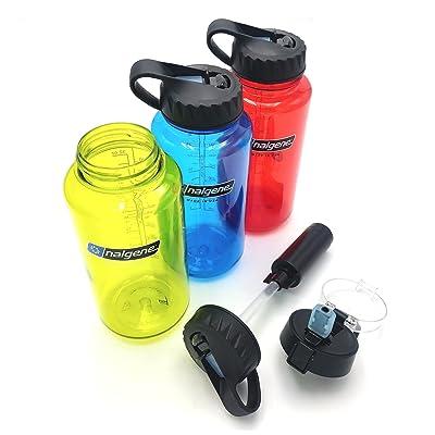 La réponse | Nalgene Compatible Bouteille d'eau Système de filtre | filtre Paille Couvercle Combo Compatible avec Nalgene Gourde à large goulot 907,2gram | American en 5Stage 2Micron fil