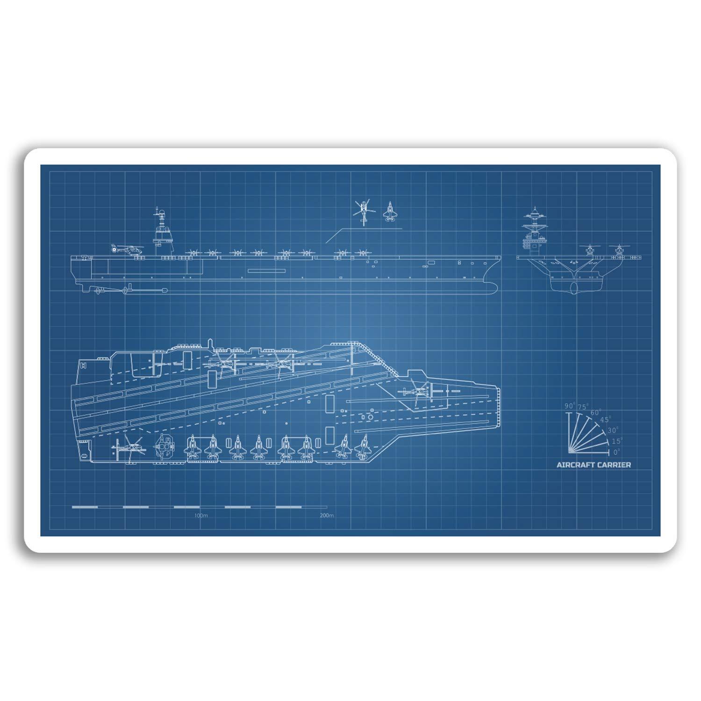 Amazon.com: 2 x 10cm Aircraft Carrier Vinyl Stickers - Plane ... on