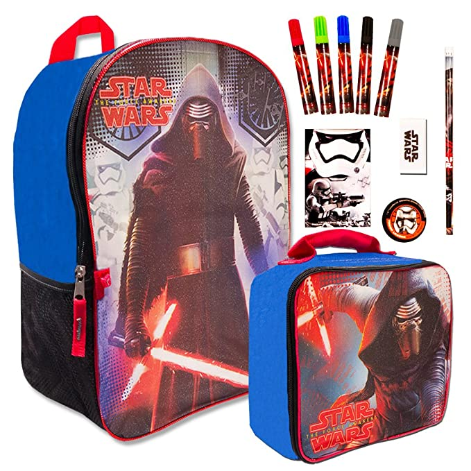 Star Wars School Lunch Box Lunch Bag Zip Clothes, Shoes & Accessories Boys' Accessories