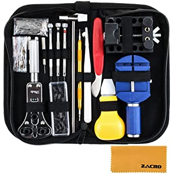 Zacro 147 PCS Kits de réparation Outils professionnels pour Montre