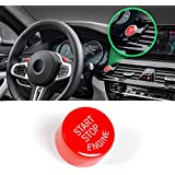 Sports Red Start Stop Engine Switch Button for BMW,Jaronx Engine Power Ignition Start Stop Button Replacement(Fits: BMW…