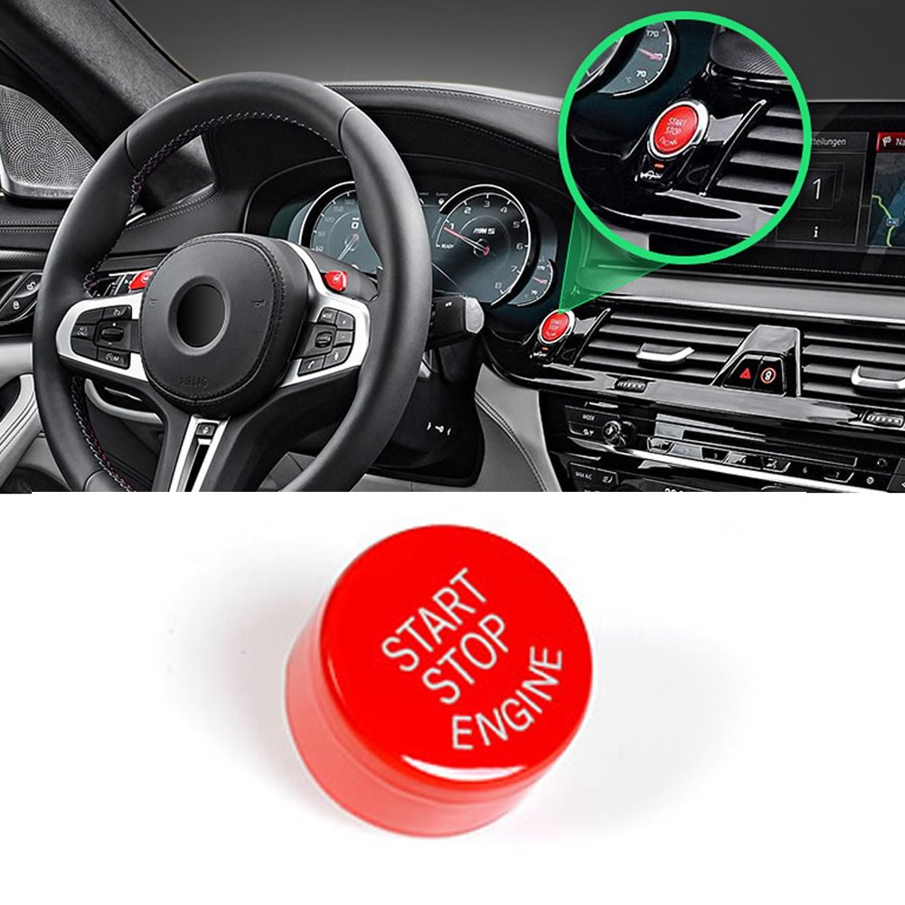 Sports Red Start Stop Engine Switch Button For Bmw 2007 Vw Gti Fuse Box Bmwjaronx Power Ignition Replacementfits 1 2 3 4 5 6 7 X1 X3 X4