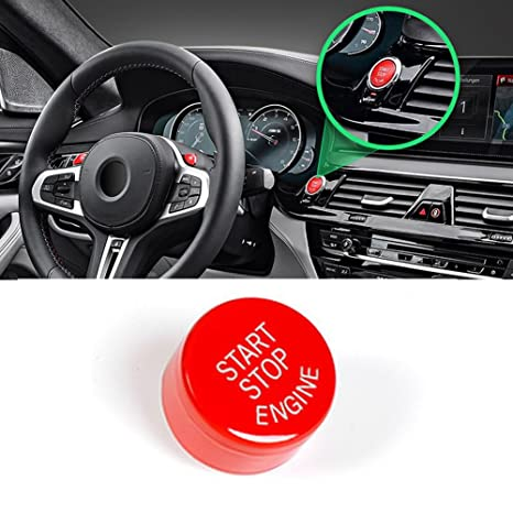 Sports Red Start Stop Engine Switch Button For BMW,Jaronx Engine Power  Ignition Start Stop Button Replacement(Fits: BMW 1 2 3 4 5 6 7 X1 X3 X4 X5  X6