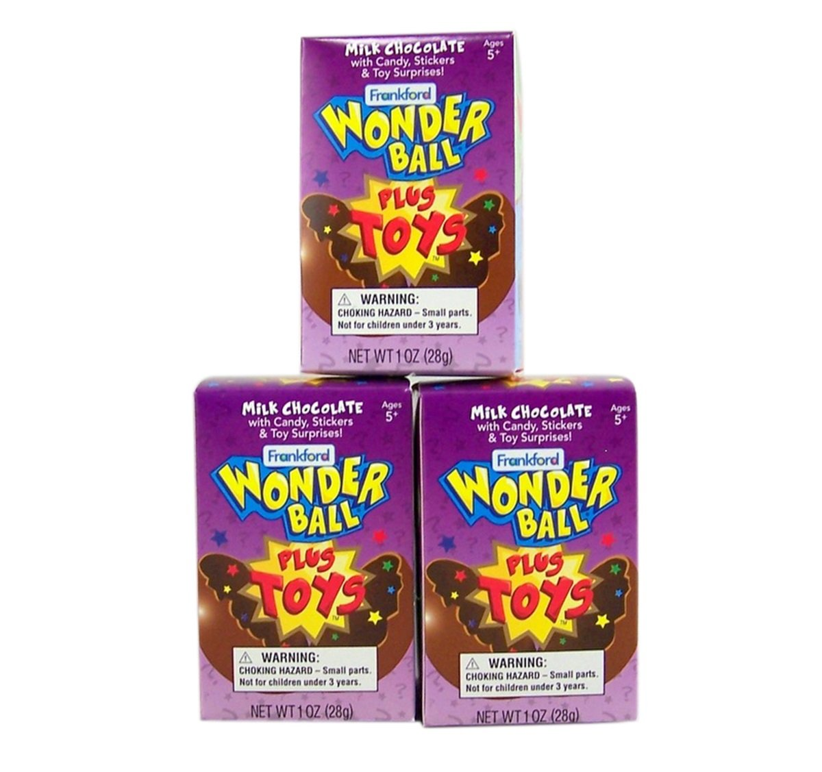 Amazon.com : Milk Chocolate Wonderball with Candy and Collectible Monster Toy Inside Box, 1 oz, Pack of 3 : Grocery & Gourmet Food