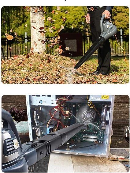 Sopladores de hojas Con Cable, EléCtrico, Soplador EléCtrico De Uso MúLtiple, Aspirador De Mano, Ajuste De 2 Velocidades (16,000 RPM MáXima, Potencia De 3000w): Amazon.es: Hogar