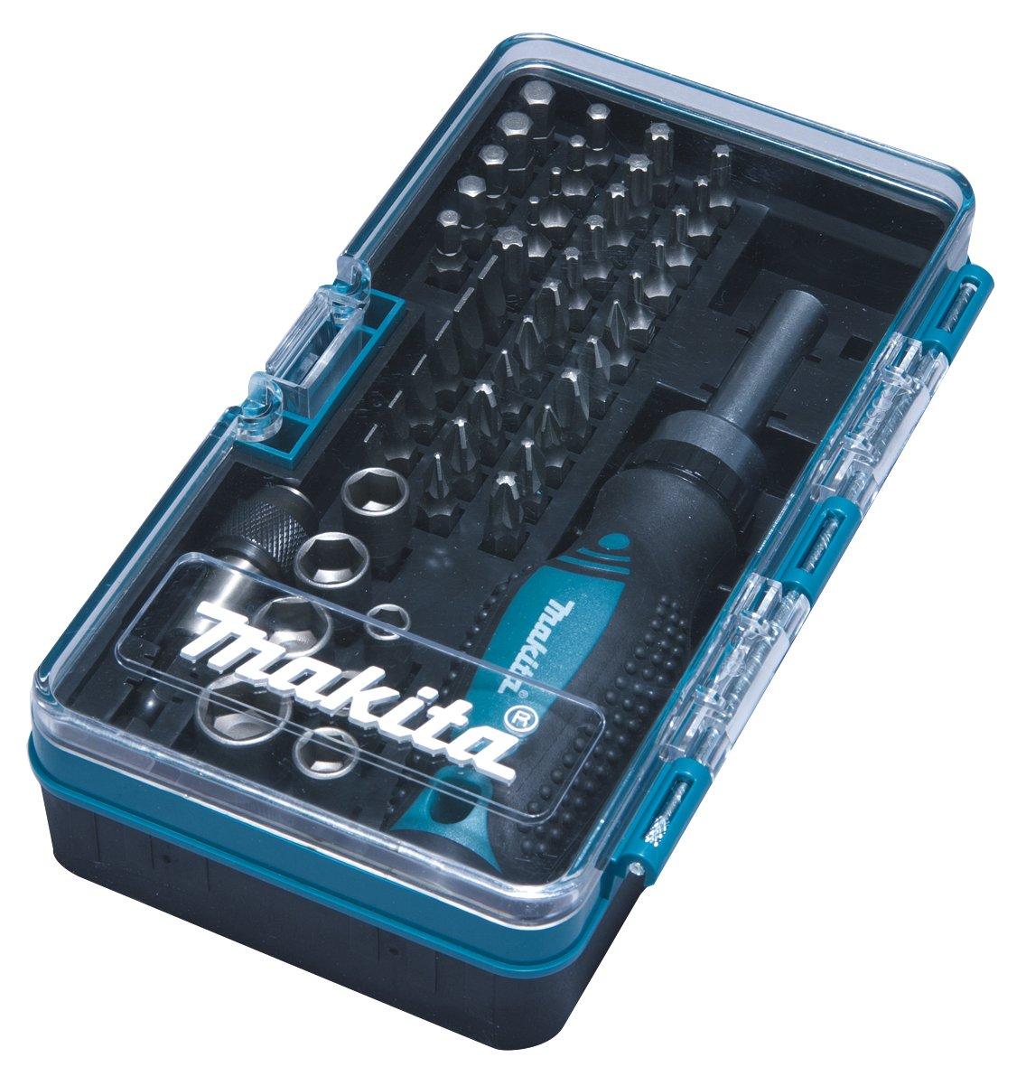 Makita B-36170 - Set de puntas + vasos + atornillador de carraca: Amazon.es: Bricolaje y herramientas