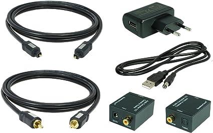 0,7 m ST HQCR coaxial / óptica (Toslink) cable + coaxial-de fibra óptica ST a (1 x 2): Amazon.es: Electrónica
