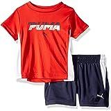 PUMA Baby-Boys 21195759TME-P612 Boys' T-Shirt & Short Set Shorts Set - red