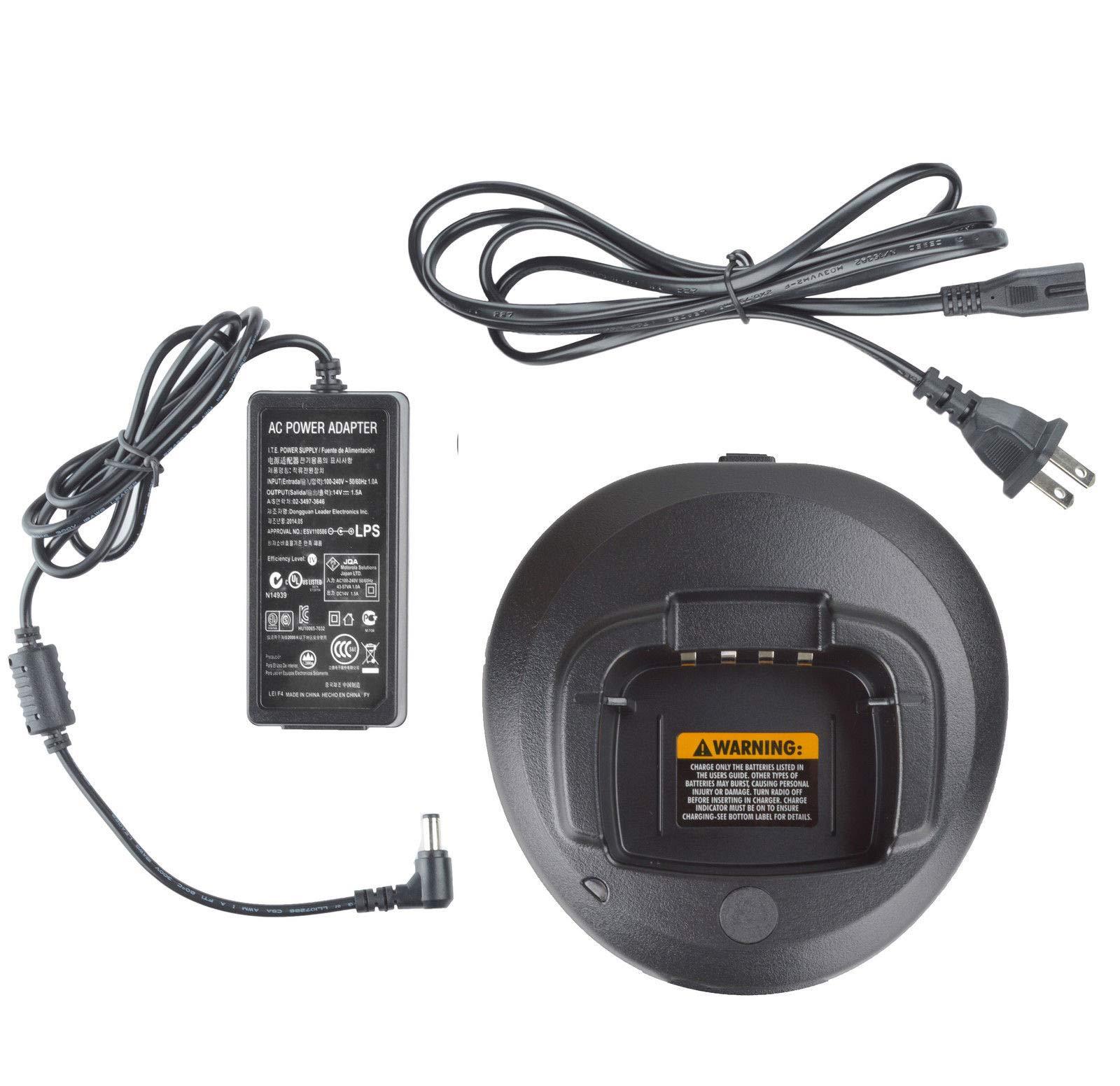 BLVL PMLN5228 Rapid Charger Set for Motorola CP1660 CP1600 CP1300 CP185 CP180 CP160 CP145 CP140 Radio