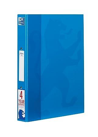 Oxford Campus - Carpeta de anillas, A4, Azul Aqua, 1 unidad: Amazon.es: Oficina y papelería