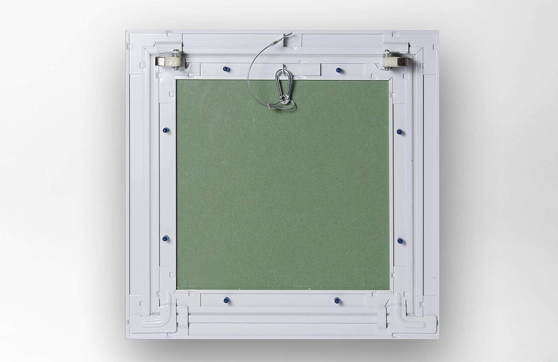 placa de 13 mm Bol de inspecci/ón de cart/ón yeso con marco de aluminio barnizado serie Kw13 60 x 60 cm Akifix NAMCP04025KW-AZ