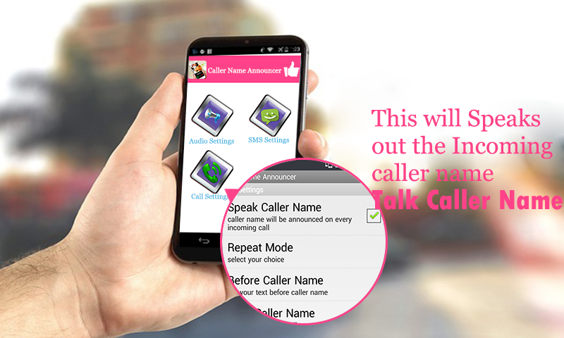 how to use caller name announcer app