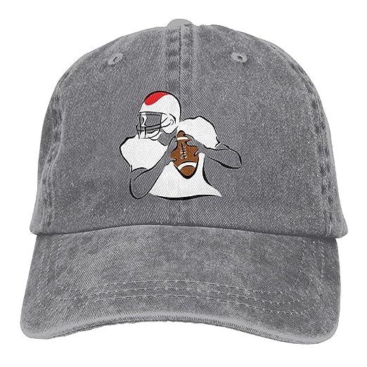 Amazon.com  Cotton Denim Cap Baseball Hat American Football Six-Panel  Adjustable Trucker Dad Hat  Clothing 7ef38b28357