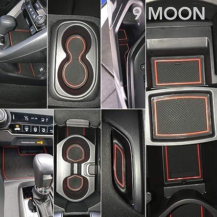 Amazon.com: 9 MOON Cup Hoder Mat, Door Mat - Center Console Liner Accessories for Honda Civic 2018 2017 2016, 15 PCS: Automotive