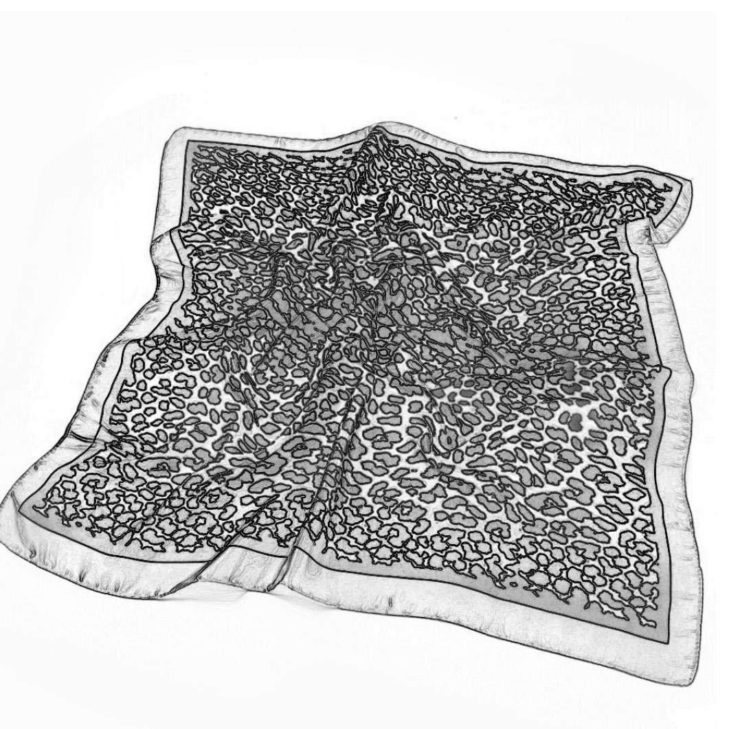 Bongles Plaza De Las Mujeres A Las Manchas Bufandas Pa/ñuelo Estampado En Leopardo Bufanda De Cuello Cuadrado Grande De Seda Pa/ñuelo para La Cabeza Bufandas De Las Se/ñoras De Pelo Y Envolturas