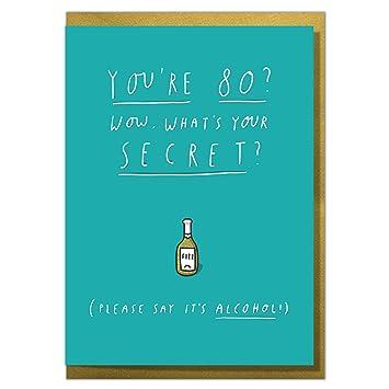 Funny 80th Birthday Card