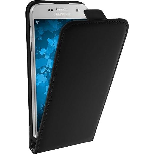 6 opinioni per Copertura di cuoio artificiale per Samsung Galaxy S7- Flip-Case nero- Cover