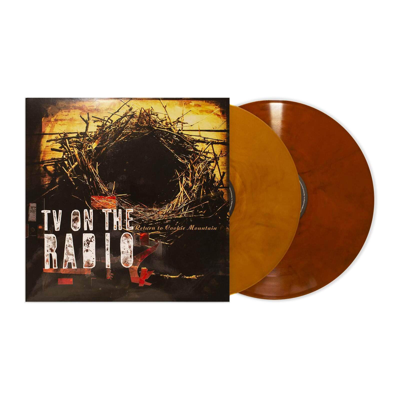 TV on the Radio - Return To Cookie Mountain Exclusive Edition Amber And Grain Color Vinyl 2XLP [Condition- VG+/NM] by Interscope Records