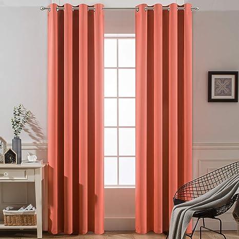 Aqua Scrolls Grommet Blackout Lined Curtain in Textured Jacquard Weave Fabric Decor Housewares Window Treatment Drapes Curtain Panels
