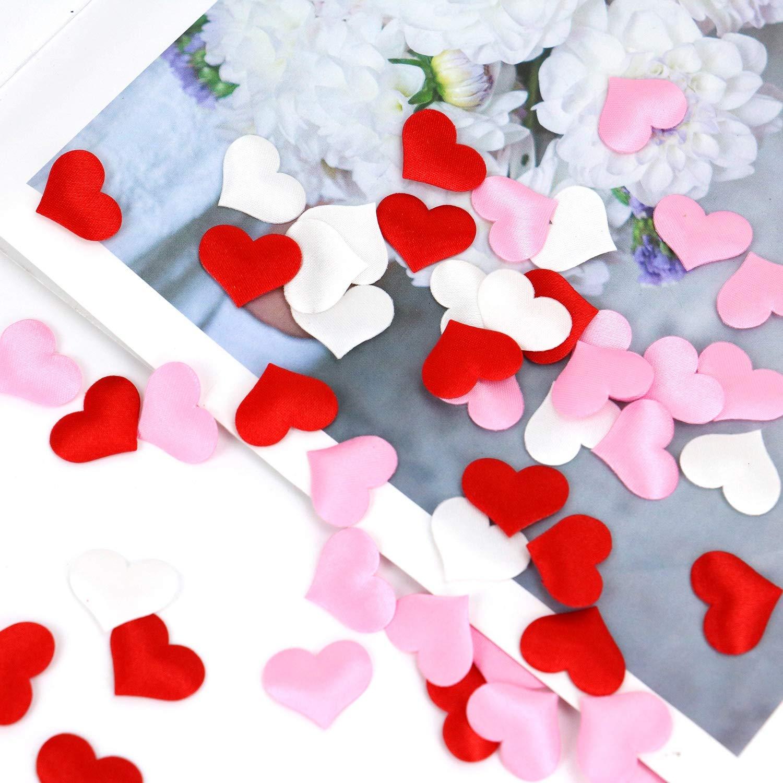 Monrocco 600 Pieces Sponge Heart Confetti Love Heart Shaped Sponge Crafts Sponge Confettis for Valentines Day Wedding Decoration