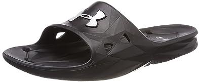 Under Armour Men UA M Locker III SL Beach and Pool Shoes,Black (Black