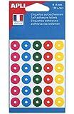 APLI Pochette 150 oeillets couleurs assorties Ø 15 mm