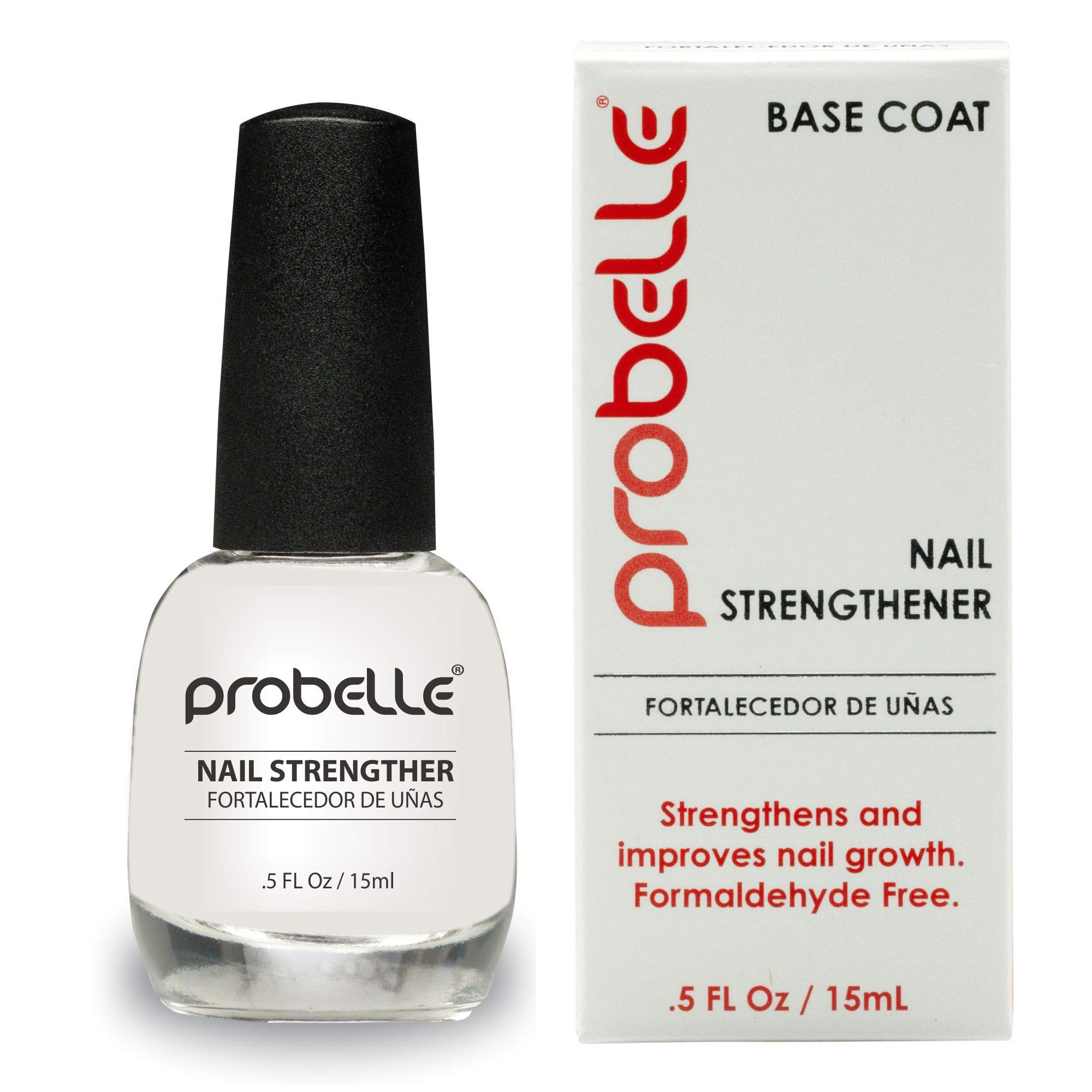 Probelle Nail Strengthener, Strengthens and Improves nail growth. Formaldehyde Free Formula, 0.5 oz by Probelle