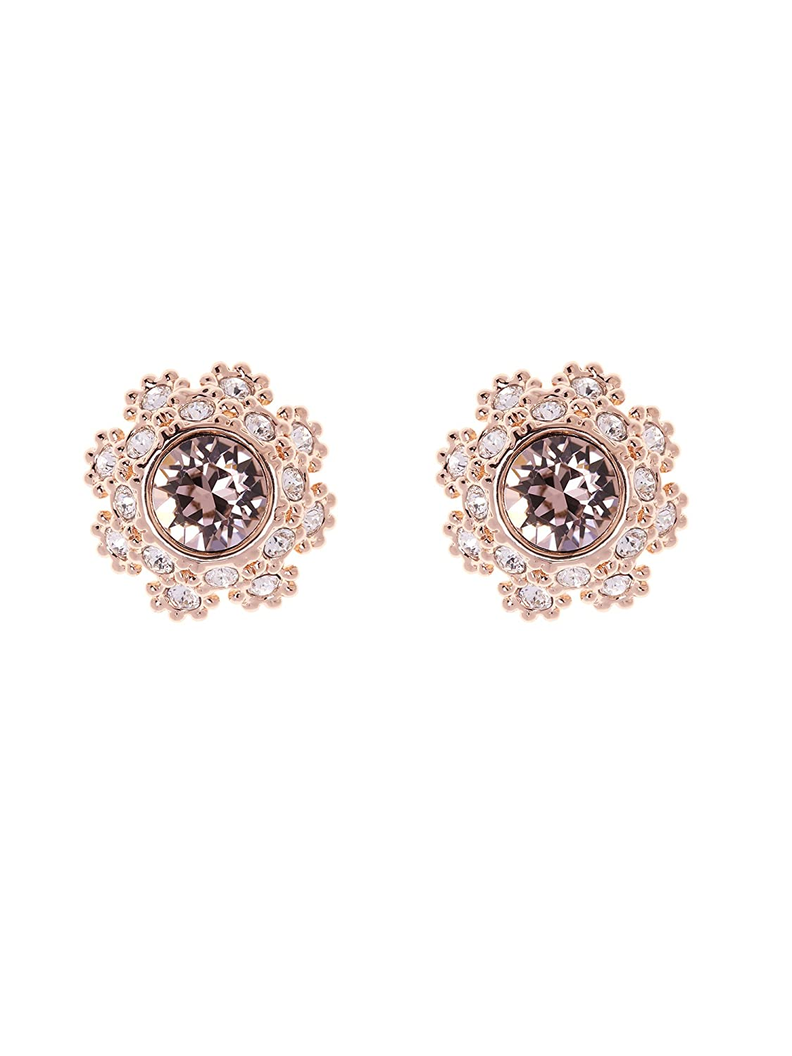 112cbabe7 Ted Baker Seraa Daisy Stud Earrings, Rose Gold/Pink: Amazon.co.uk: Jewellery