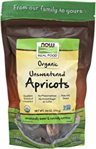 NOW Foods, Organic Dried Apricots, Unsweetened, No Preservatives, Added Sugar or Sulfur, 16-Ounce