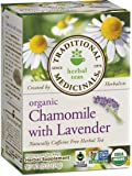 Traditional Medicinals Organic Chamomile with Lavender Herbal Tea, 16 Tea Bags