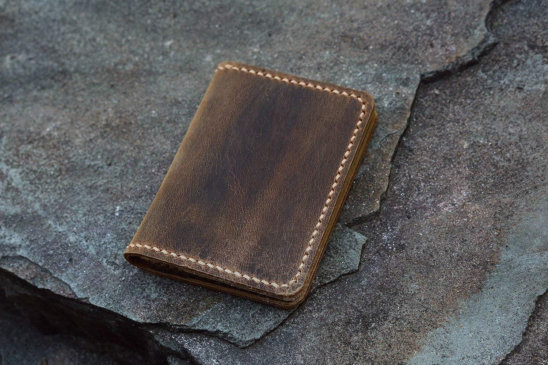 best website 7e106 74154 Personalized leather credit card holder/Slim cash change wallet/vintage  retro leather card case C054CF