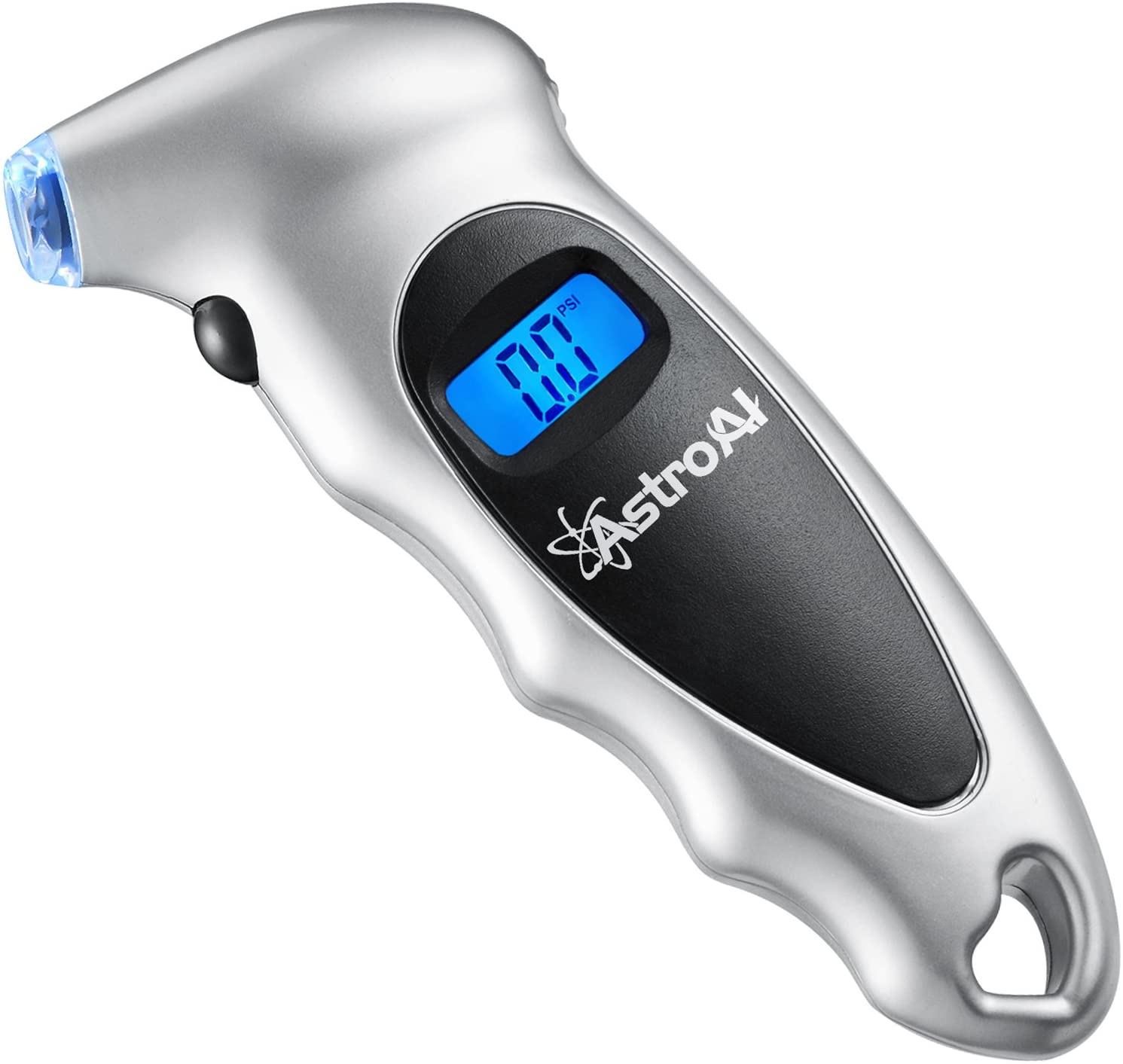 AstroAI Digital Tire Pressure Gauge 150 PSI 4 Settings for Car Truck Bicycle with Backlit LCD and Non-Slip Grip Black