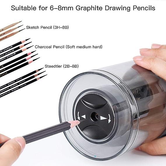 temperamatite elettrico professionale a punta lunga per artisti per disegno e schizzi ricaricabile Yomric